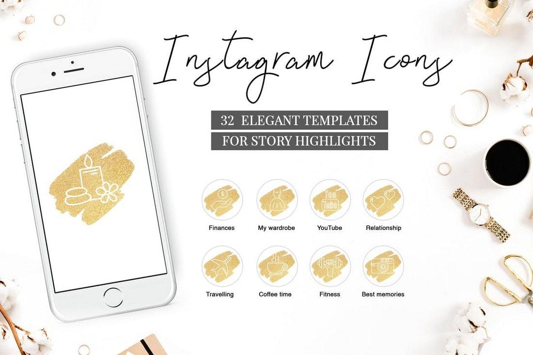 Elegant-Instagram-Highlight-Icons 20+ Best Instagram Story Highlight Icons (Free + Pro) design tips  Inspiration