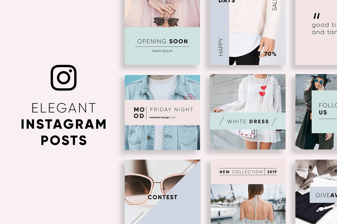 Elegant Instagram Post Templates