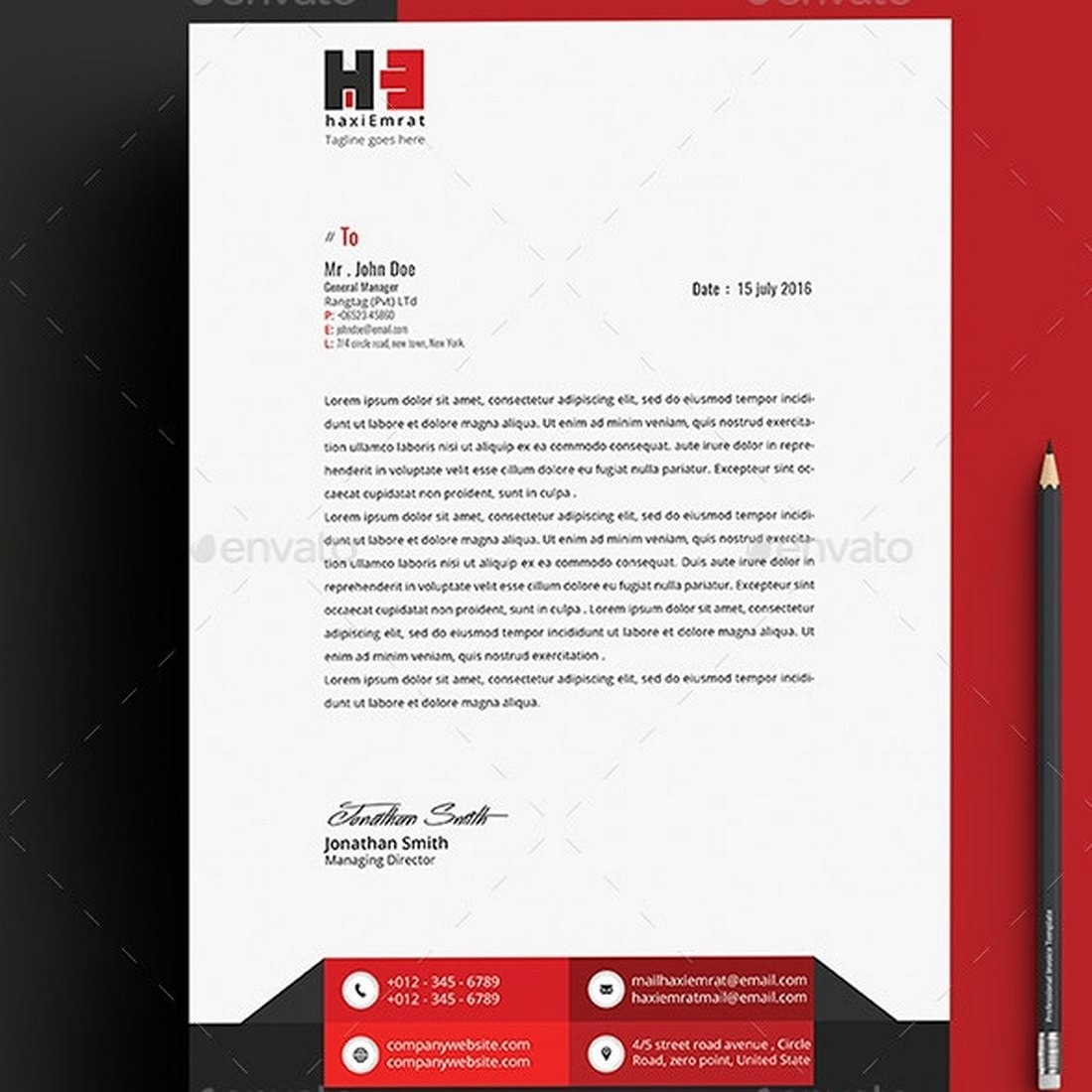 Elegant Letterhead Template for Word