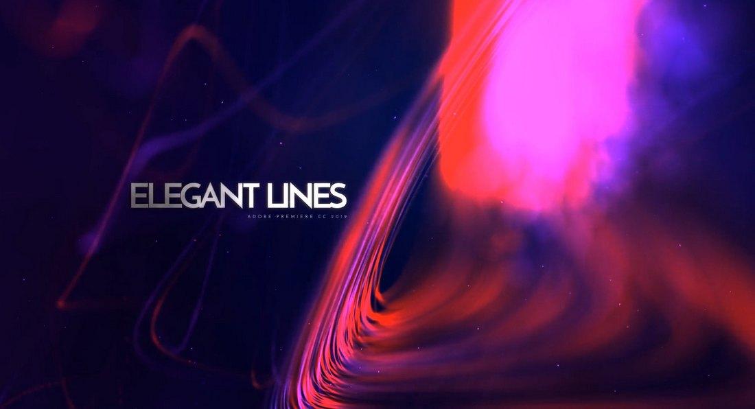 Elegant Lines Titles Premiere Pro Templates
