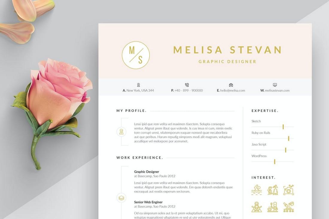 Elegant Resume & Cover Letter Word Template