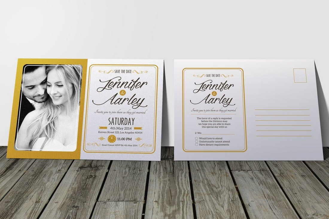 Elegant-Wedding-Invitation-RSVP-Templates 15+ Gorgeous Save the Date Wedding Templates design tips