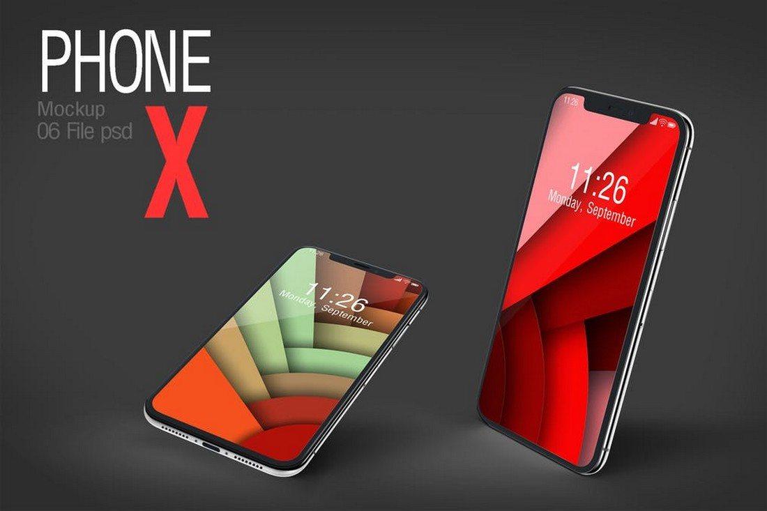 Elegant-iPhone-X-Mockup 30+ Best iPhone X Mockups (PSD, AI & Sketch) design tips