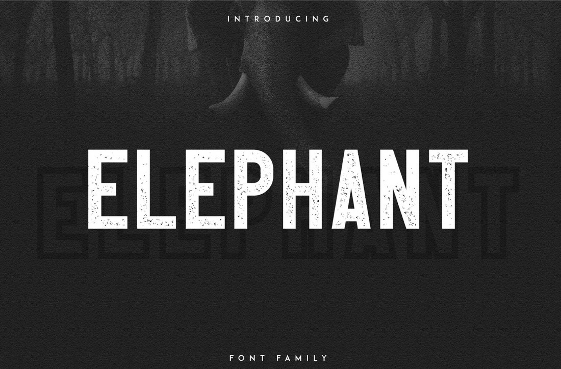 Elephant Outline - Free Creative Font