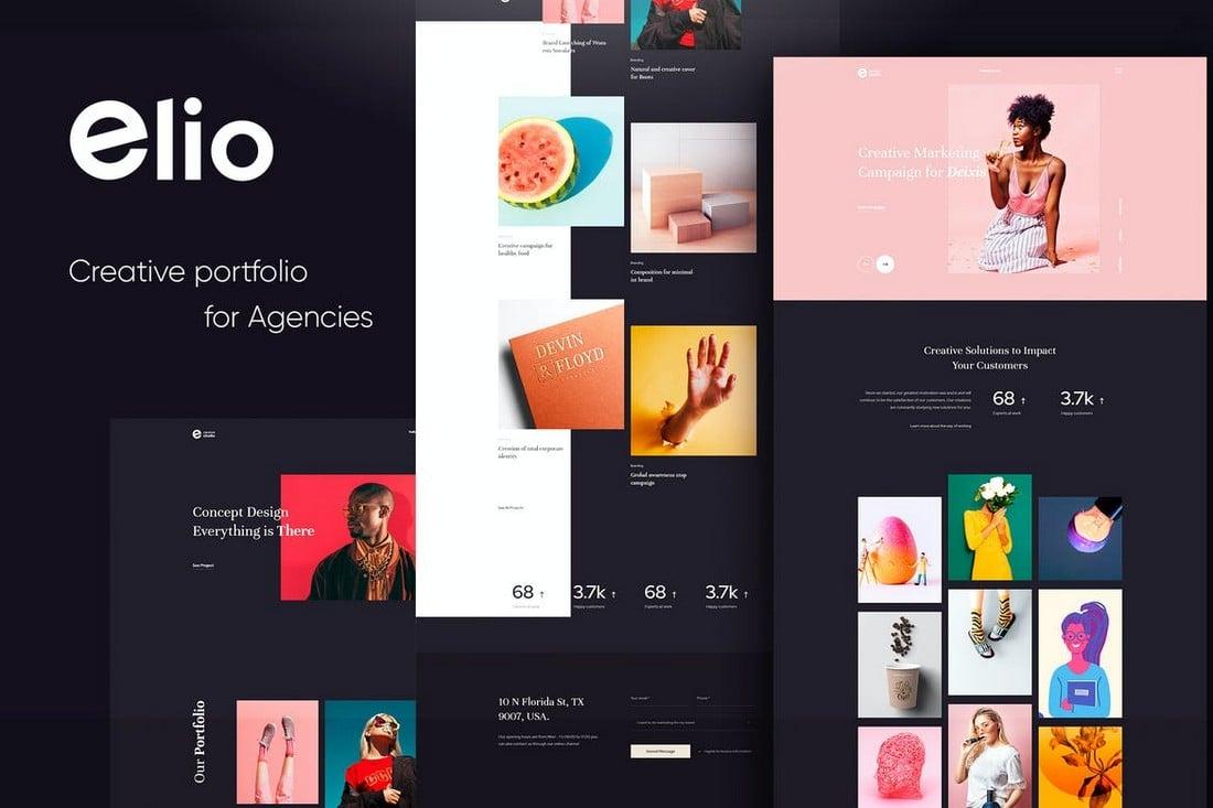 Elio-Creative-Portfolio-HTML5-CSS3-Template 10 Best Graphic Design Portfolio Examples + Templates design tips