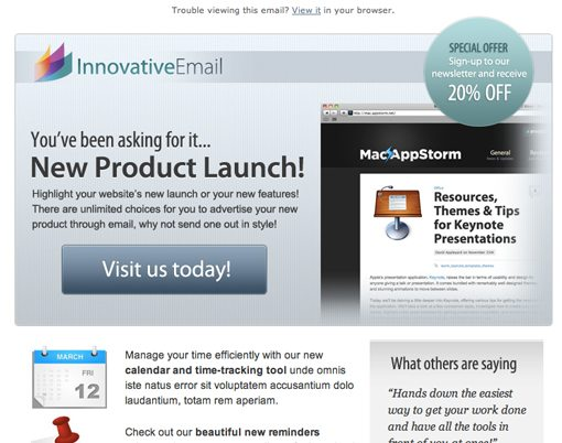 10 Design Lessons From HTML Email Templates That Actually Sell – Sample Html Email