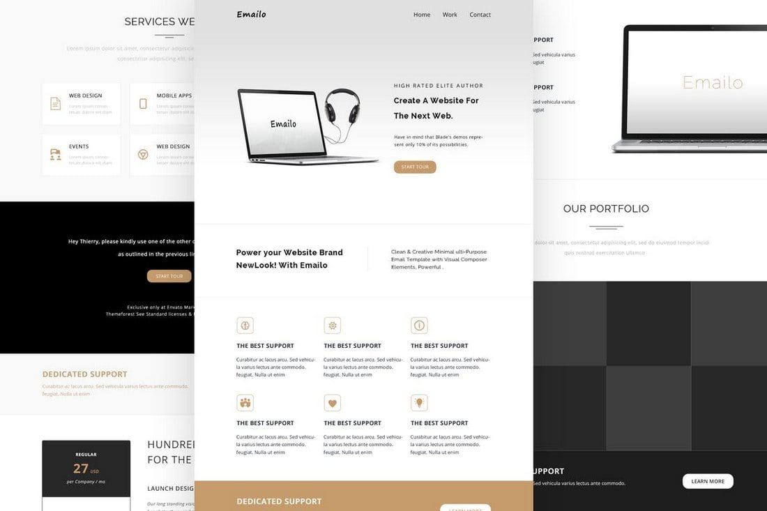 Emailo-Responsive-Email-and-Newsletter-Template 25+ Modern Responsive Email Templates design tips