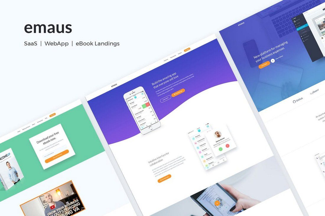 35 Best App Landing Page Templates 2018 Design Shack