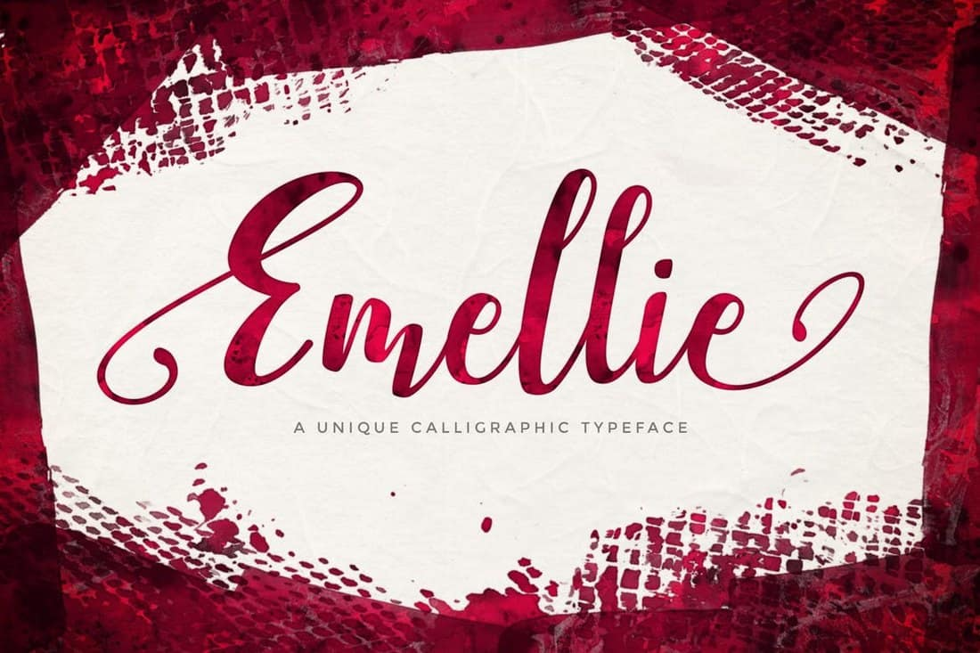 Emellie - Calligraphy Script Font
