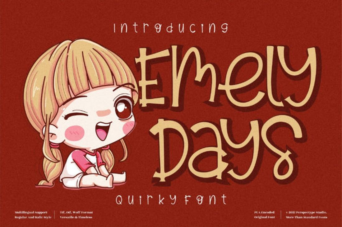 Emely Days - Free Cartoon Font