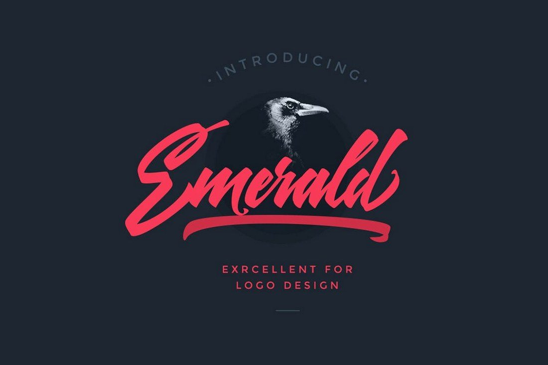 Emerald-Script-Font 30+ Best Fonts for Logo Design design tips
