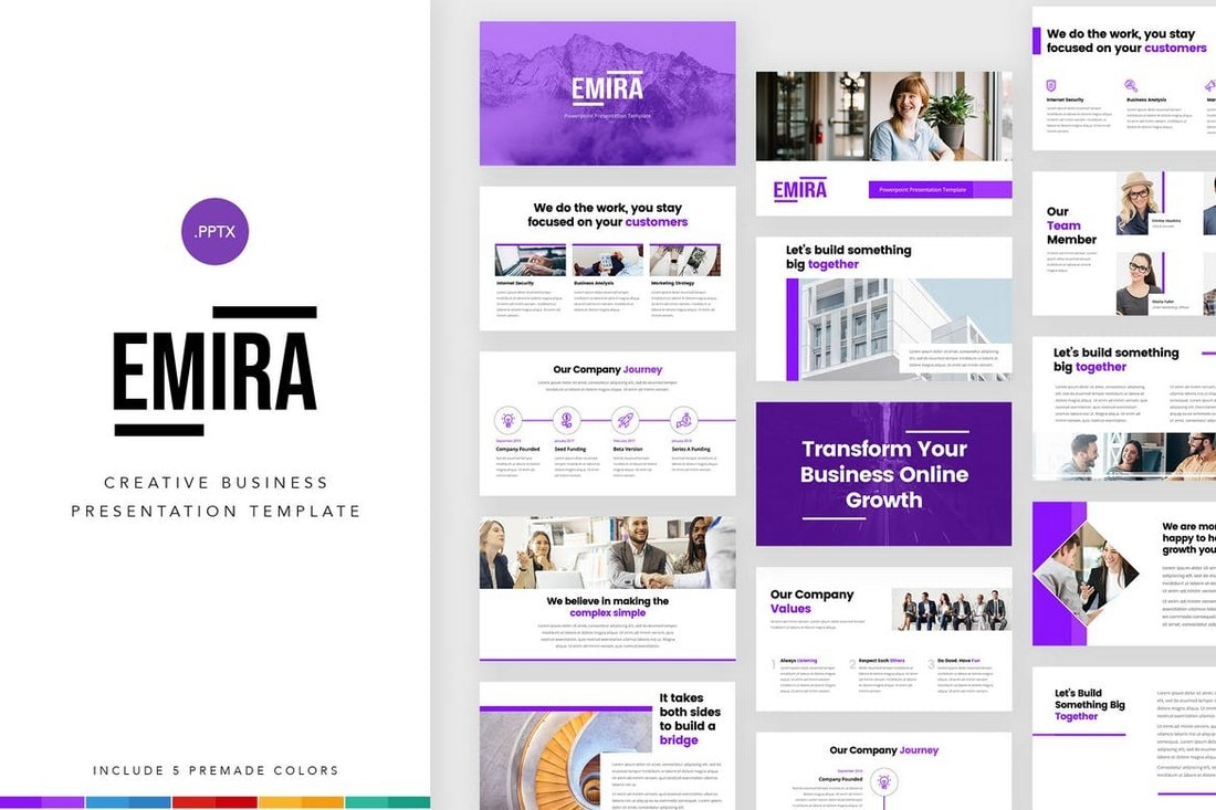 Emira-Creative-Company-PowerPoint-Template 30+ Best Business & Corporate PowerPoint Templates 2021 design tips