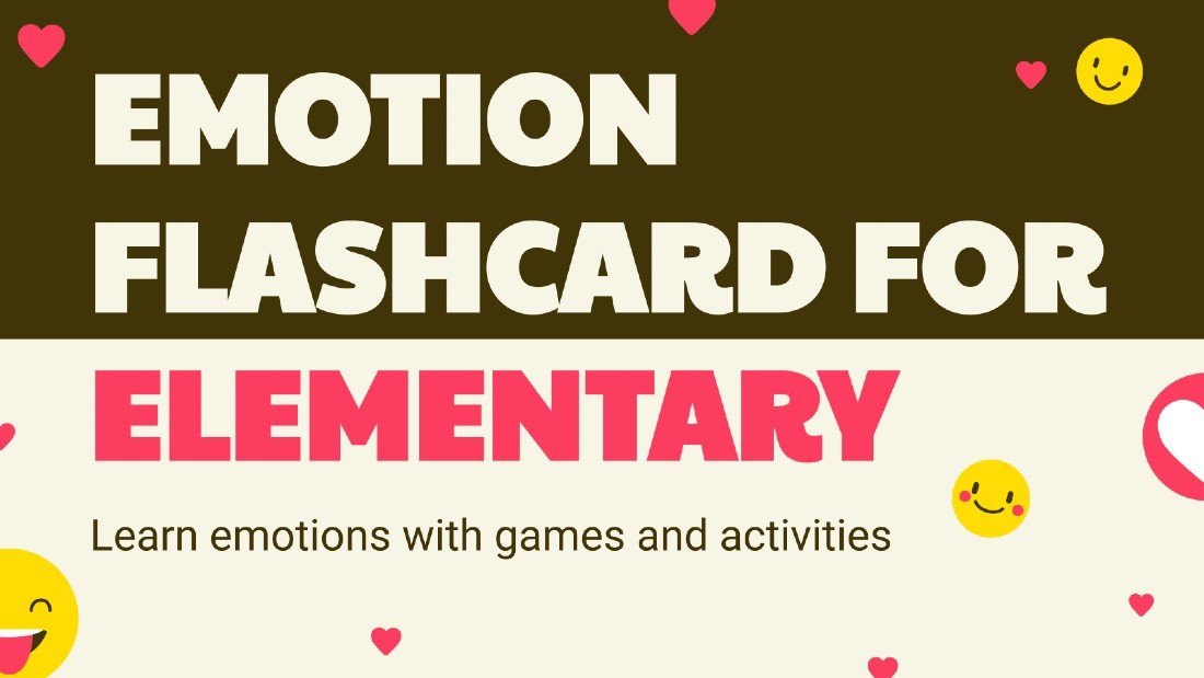 Emotion Flashcard - Free Creative PowerPoint Template