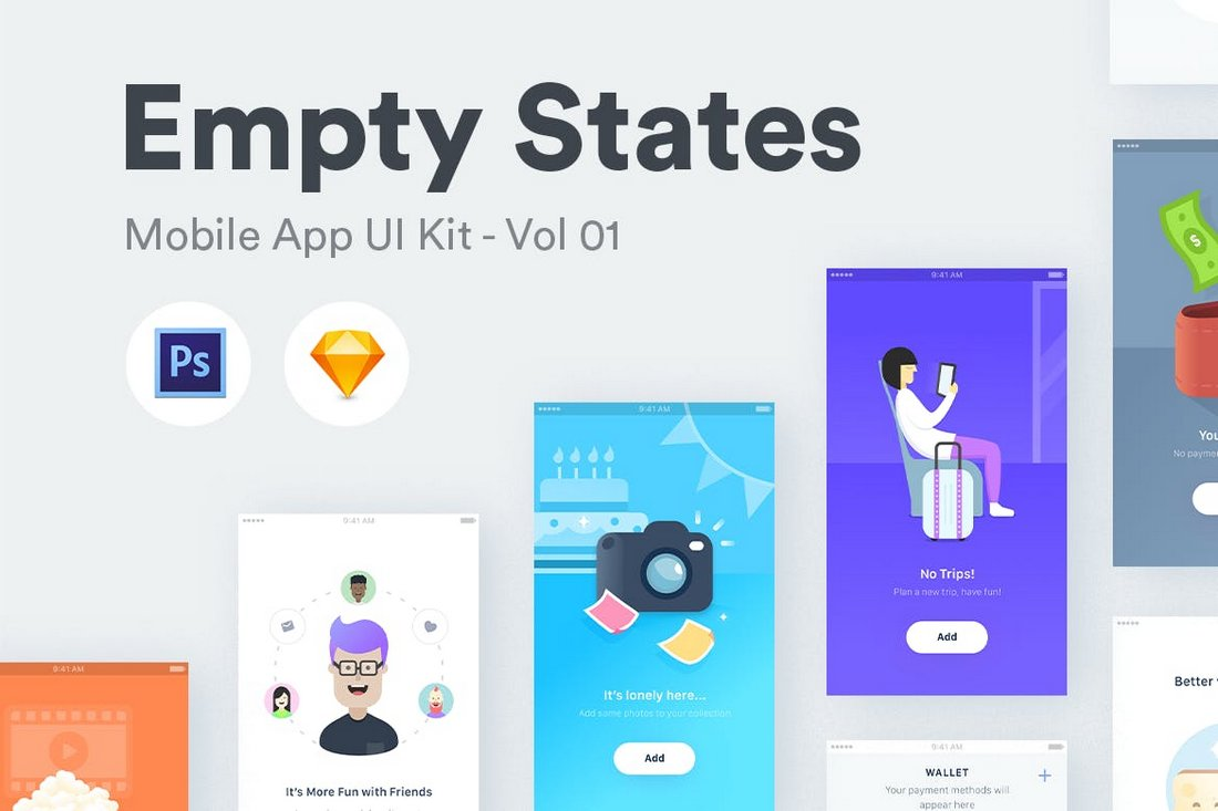 Empty States - Sketch iOS Templates