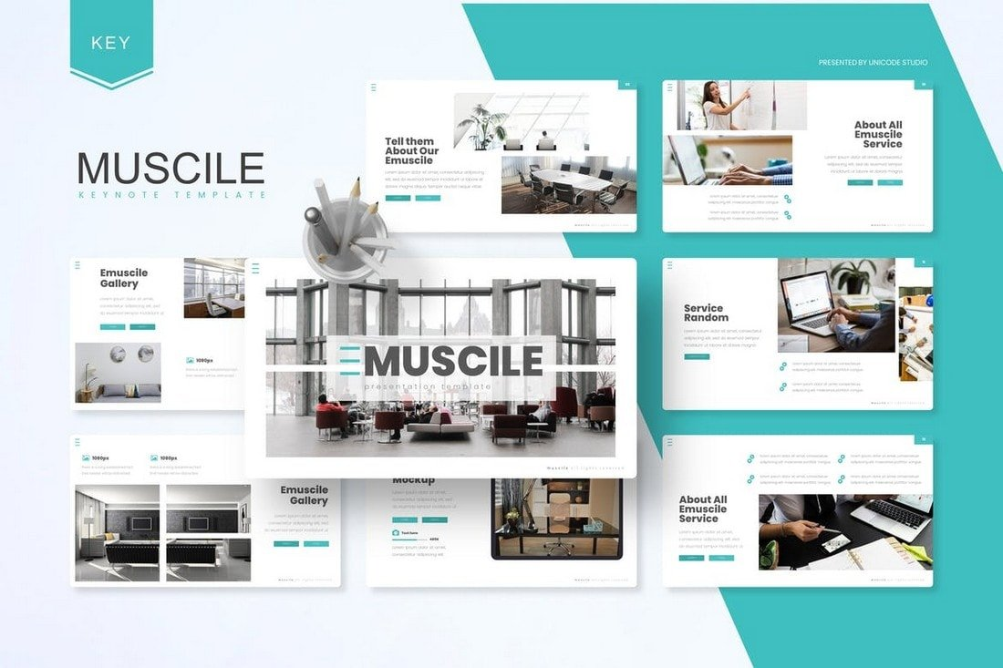 Emuscile - Business Keynote Template