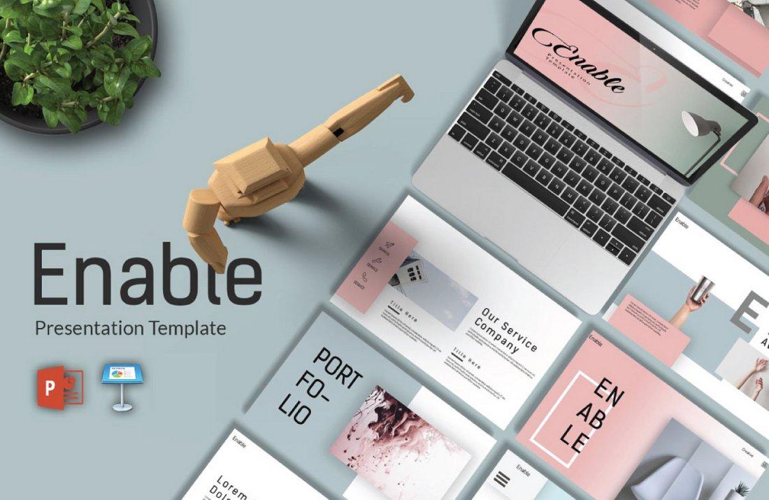 Enable - Free Modern Keynote Template