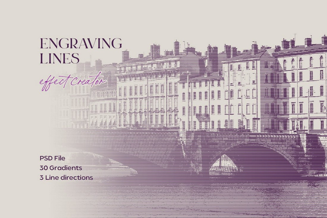 Engraving-Lines-Photoshop-Effect-PSD 20+ Best Photoshop Layer Styles in 2021 (Free & Premium) design tips