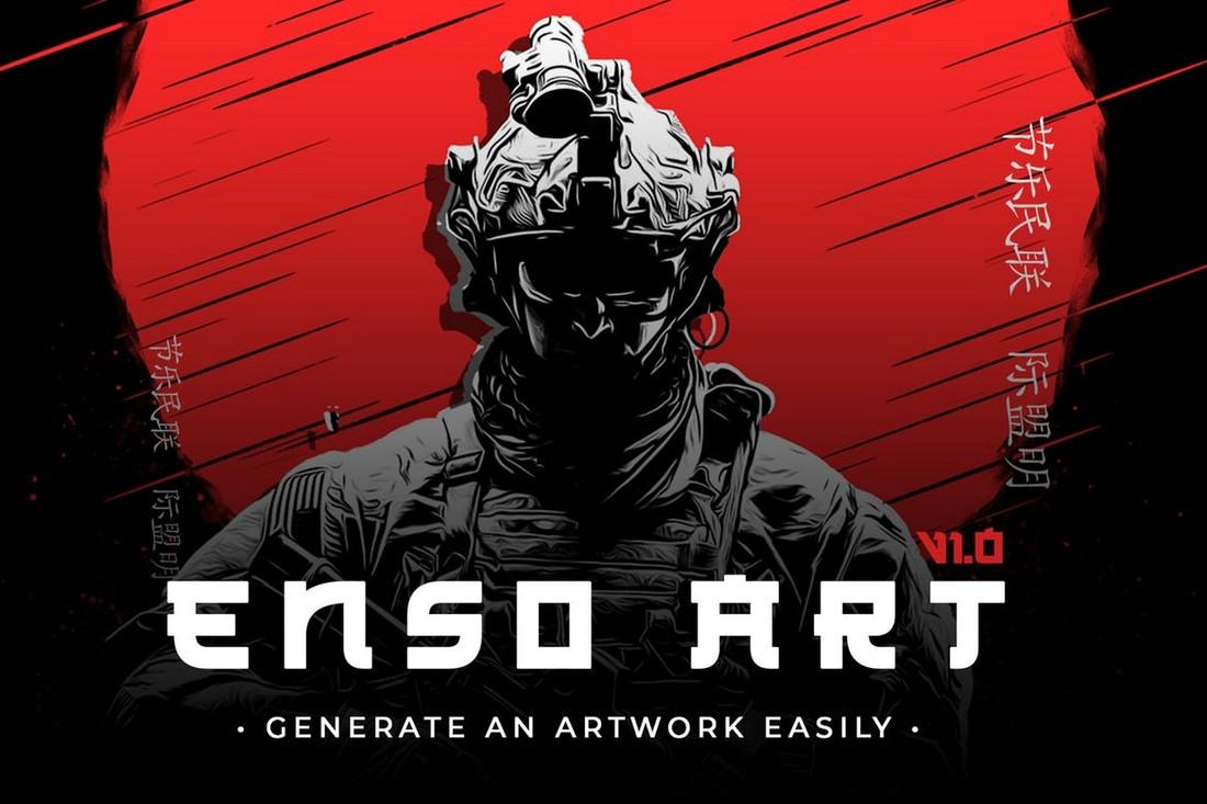 Enso Art - Japanese Art Creator Photoshop Plugin