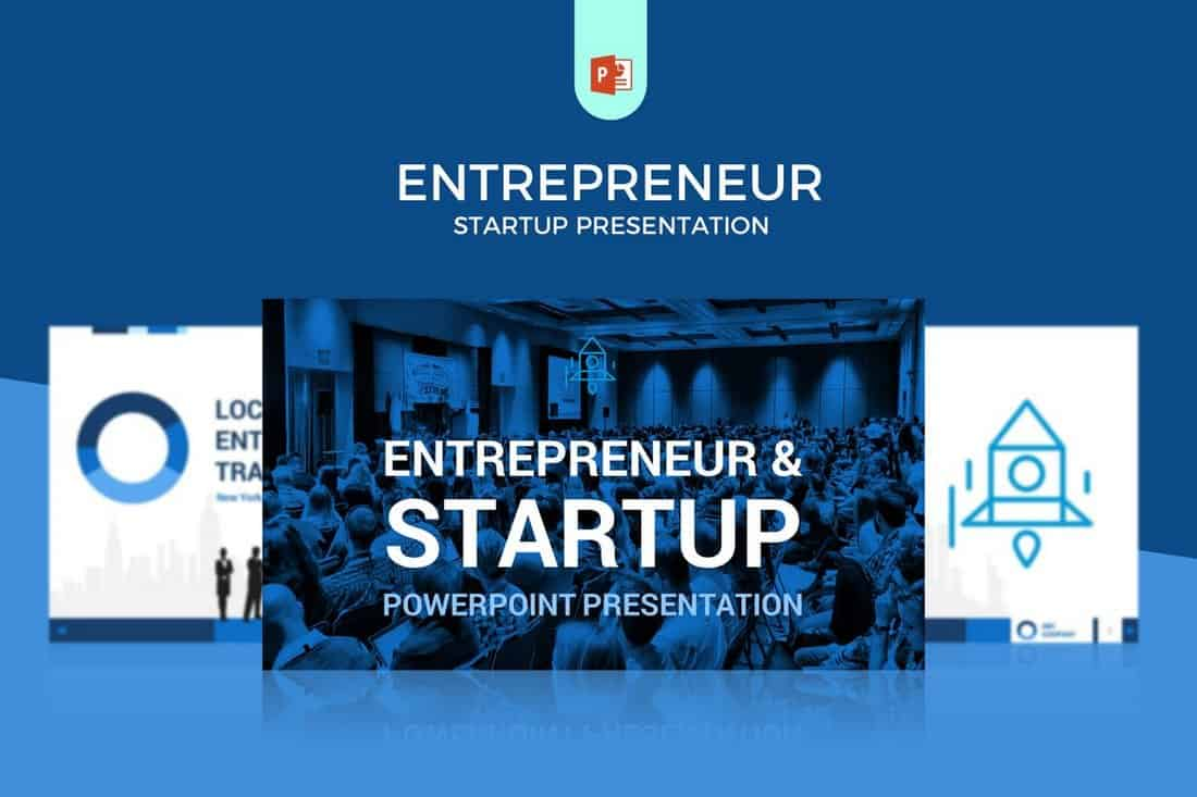 Entrepreneur-Startup-Pitch-Deck-Template-For-PowerPoint 20+ Best Startup Pitch Deck Templates for PowerPoint design tips