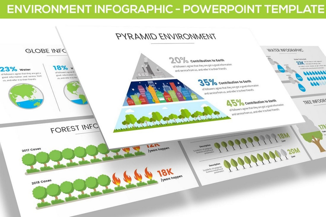 Environment Infographic for Powerpoint