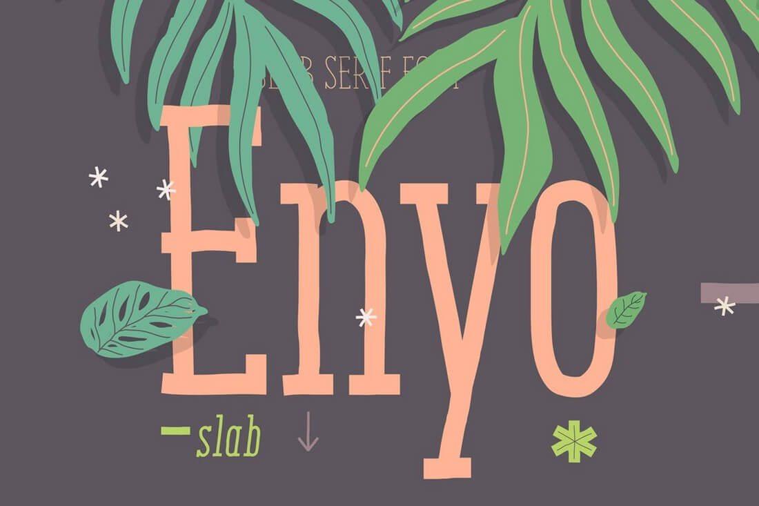 Enyo-Slab 60+ Best Big, Poster Fonts of 2019 design tips