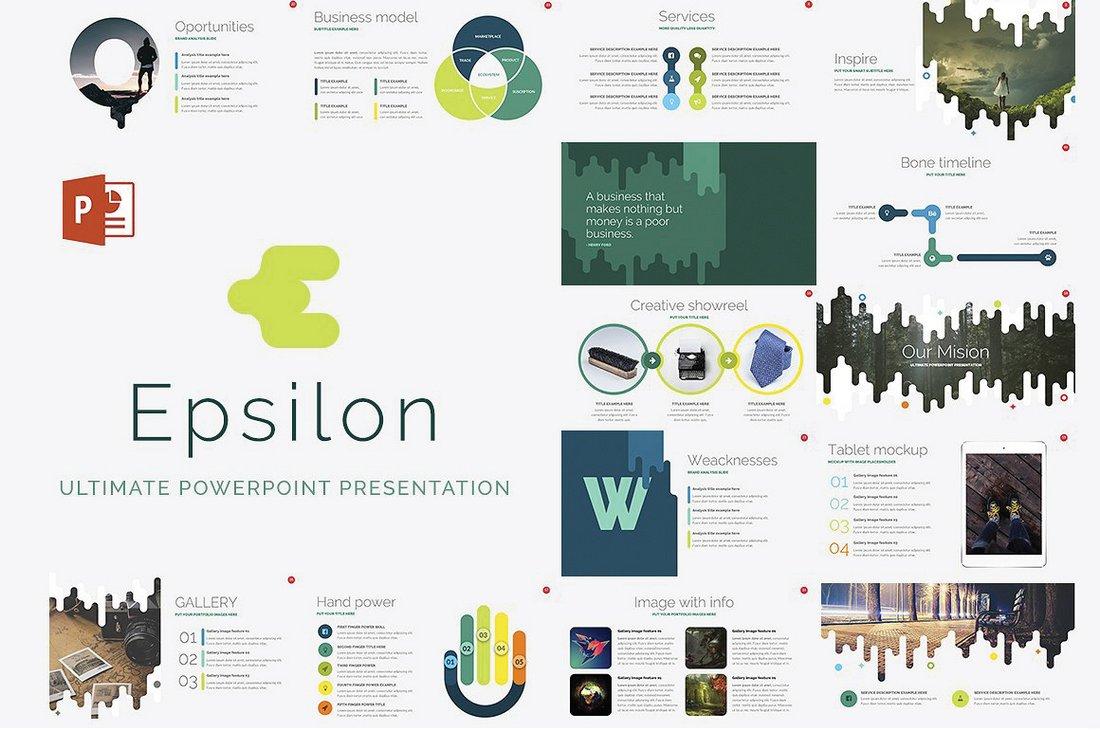 Epsilon - Free Corporate PowerPoint Template