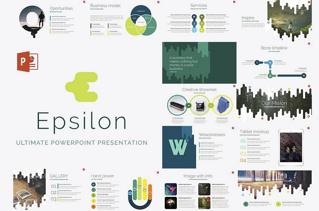 Epsilon - Free Marketing PowerPoint Template