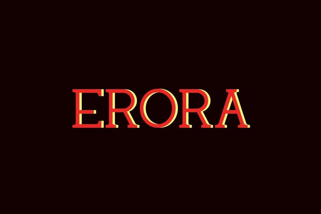 Erora-Slab-Font 50+ Best Slab Serif Fonts of 2021 design tips