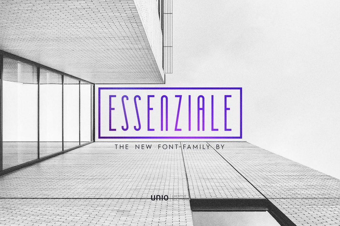 Essenziale-Font-Family 40+ Best Condensed & Narrow Fonts of 2019 design tips