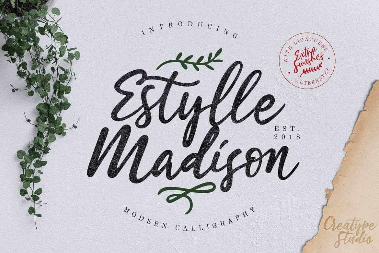 Estylle Madison Calligraphy Font