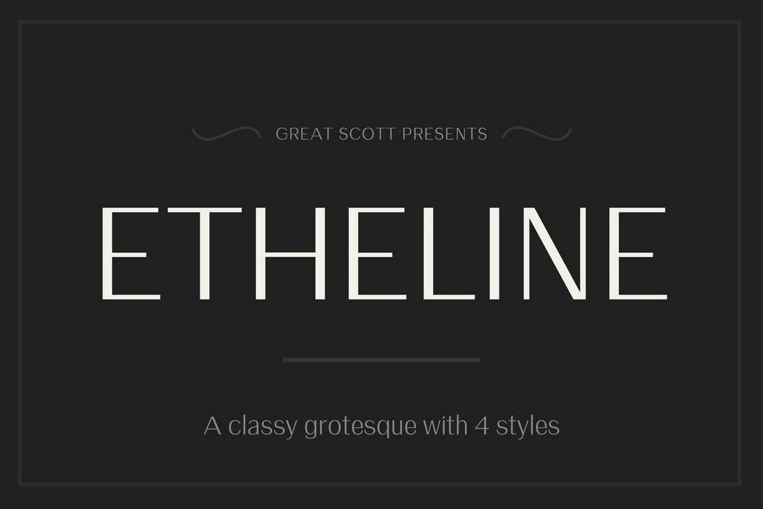 Etheline Grotesque Gothic Fonts