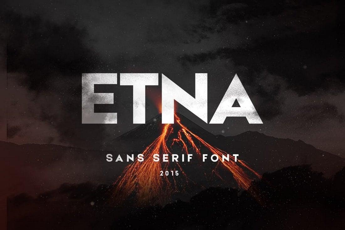 Etna - Sans Serif Title Font
