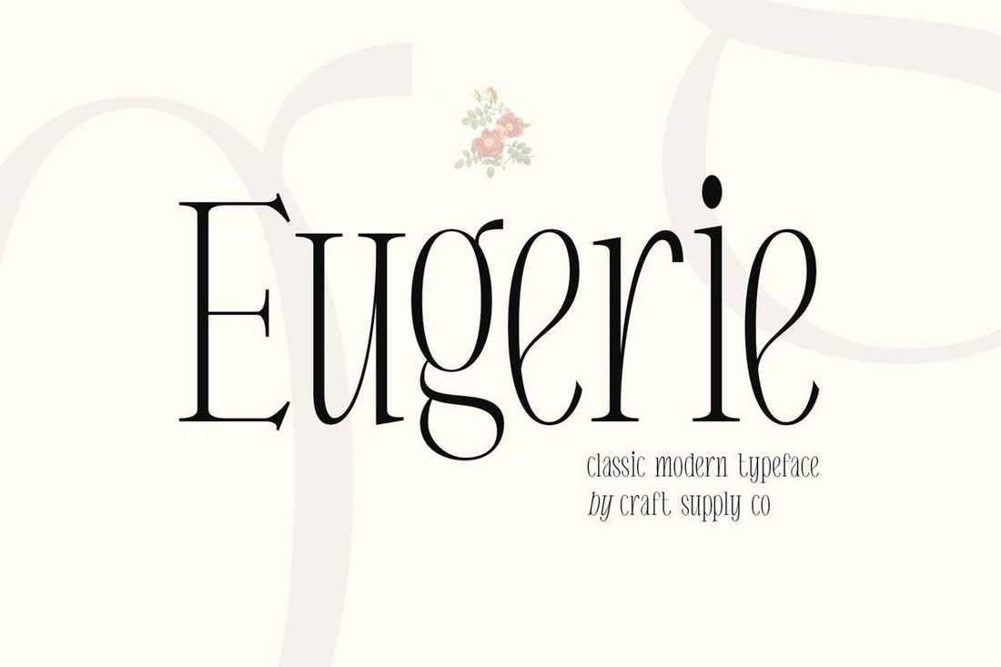 Eugerie - Classic-Modern Condensed Font