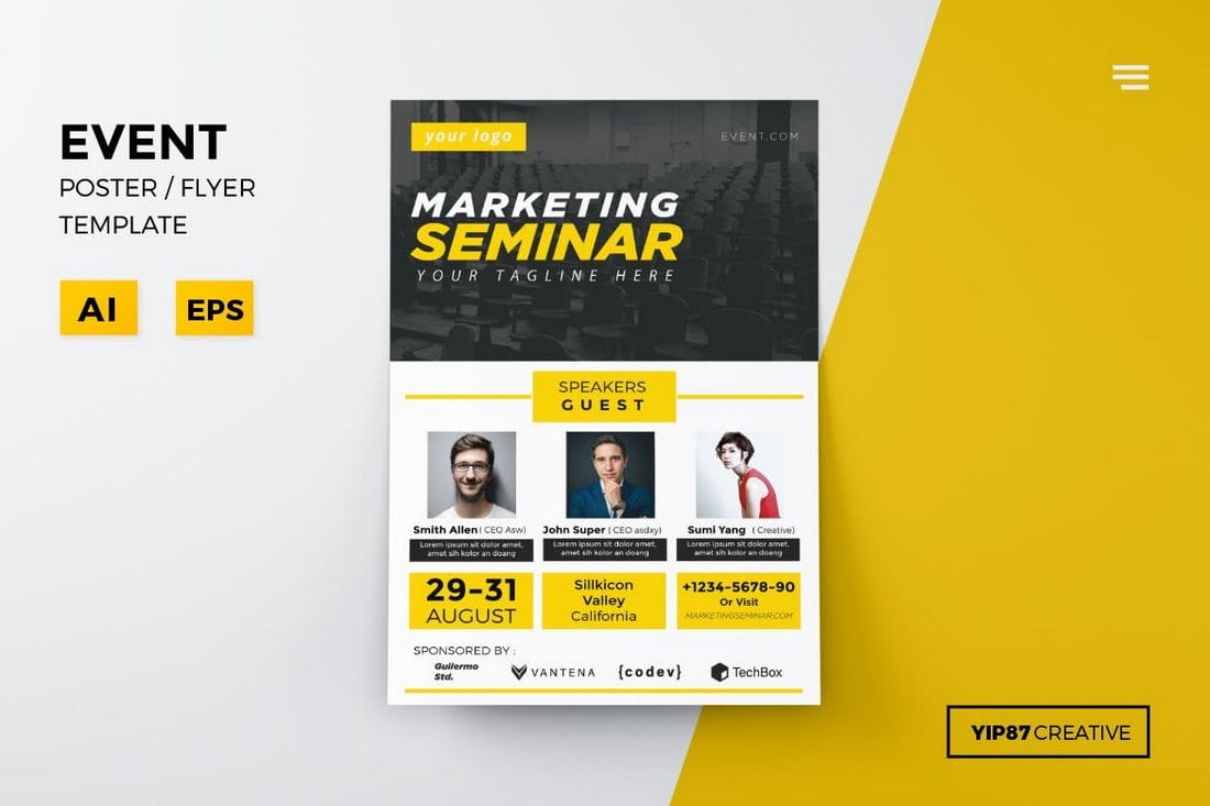 Event-Conference-Flyer-Template 20+ Best Event Flyer Templates design tips