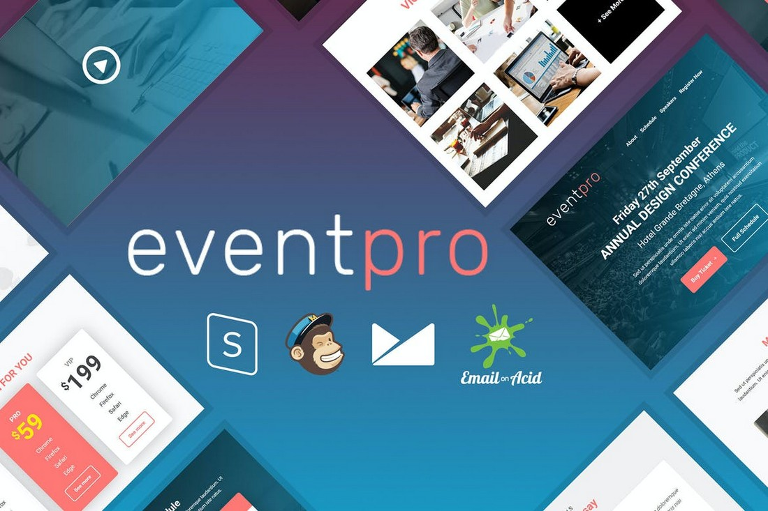 EventPro-Event-Conference-Email-Template 40+ Modern Responsive Email Templates 2021 design tips
