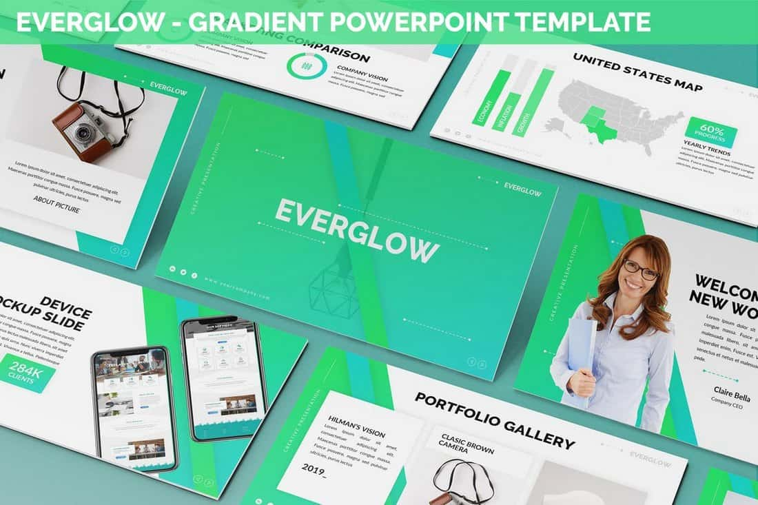 Everglow - Gradient Powerpoint Template