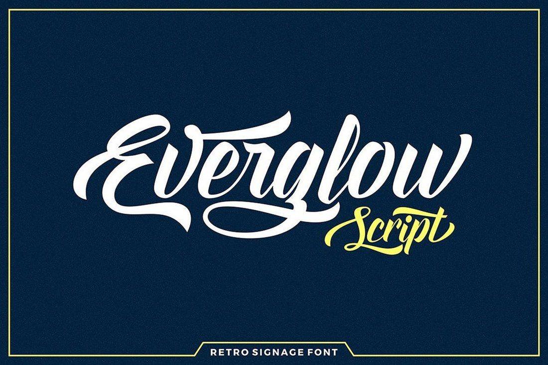 Everglow-Script 60+ Best Big, Poster Fonts of 2019 design tips