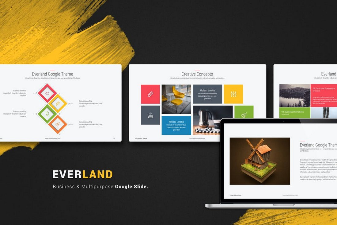 Everland-Multipurpose-Creative-Google-Slide 15+ Google Slides Templates for Teachers design tips