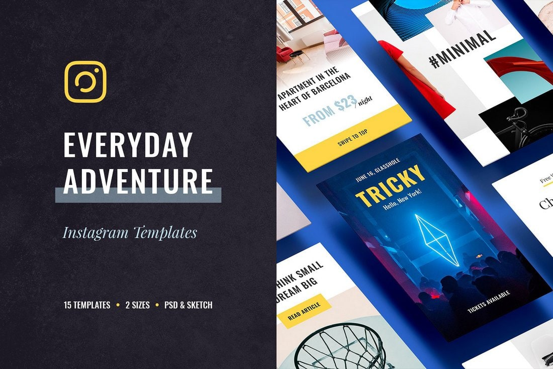 Everyday Adventure - Free Instagram Templates
