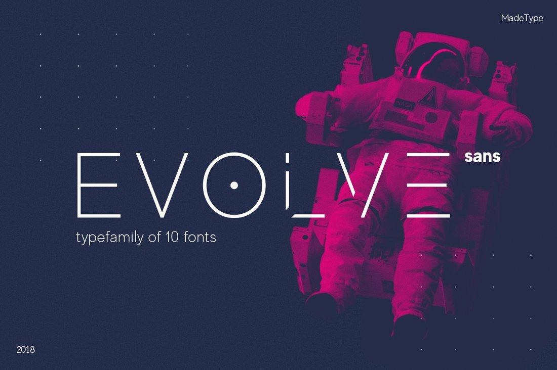 Evolve - Unique Stencil Font