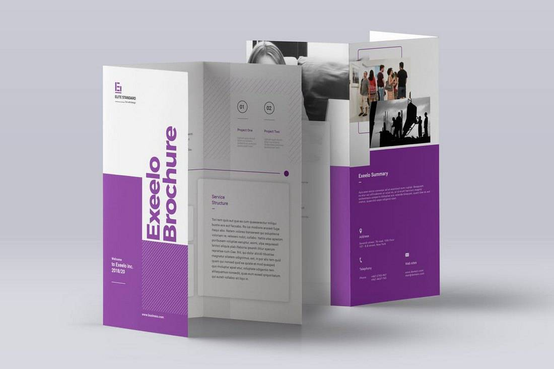 Exeelo Trifold Brochure Template