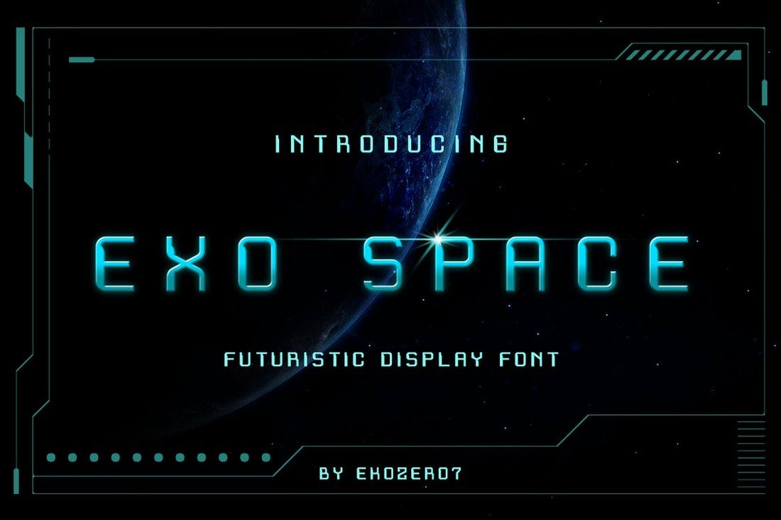 Exo Space - Futuristic Display Font