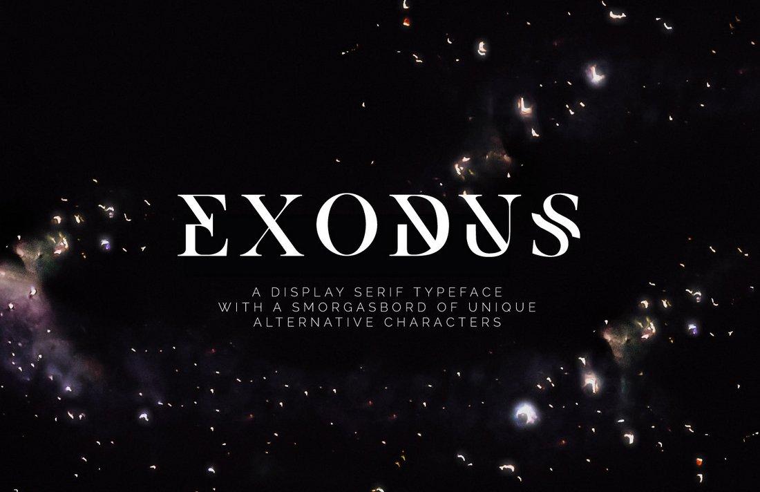 Exodus - Free Elegant Monogram Font