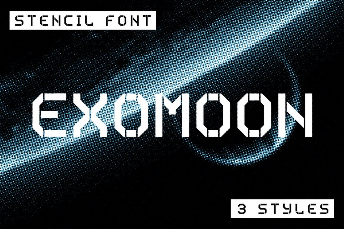 Exomoon-Display-Stencil-Font 30+ Best Stencil Fonts design tips