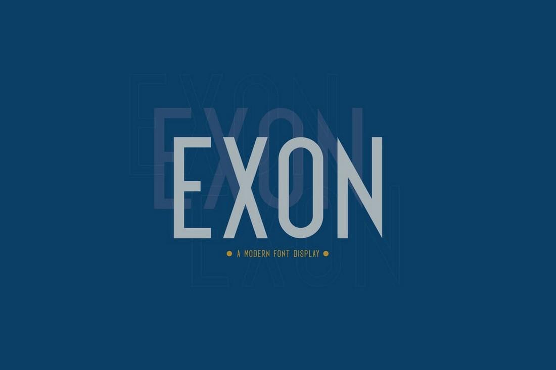 Exon - Elegant Poster Font