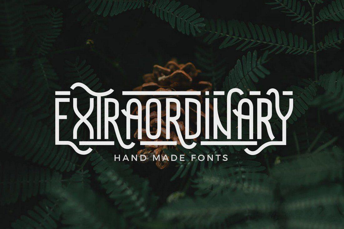 Extraordinary-Handmade-Font 25+ Best Monogram Fonts design tips