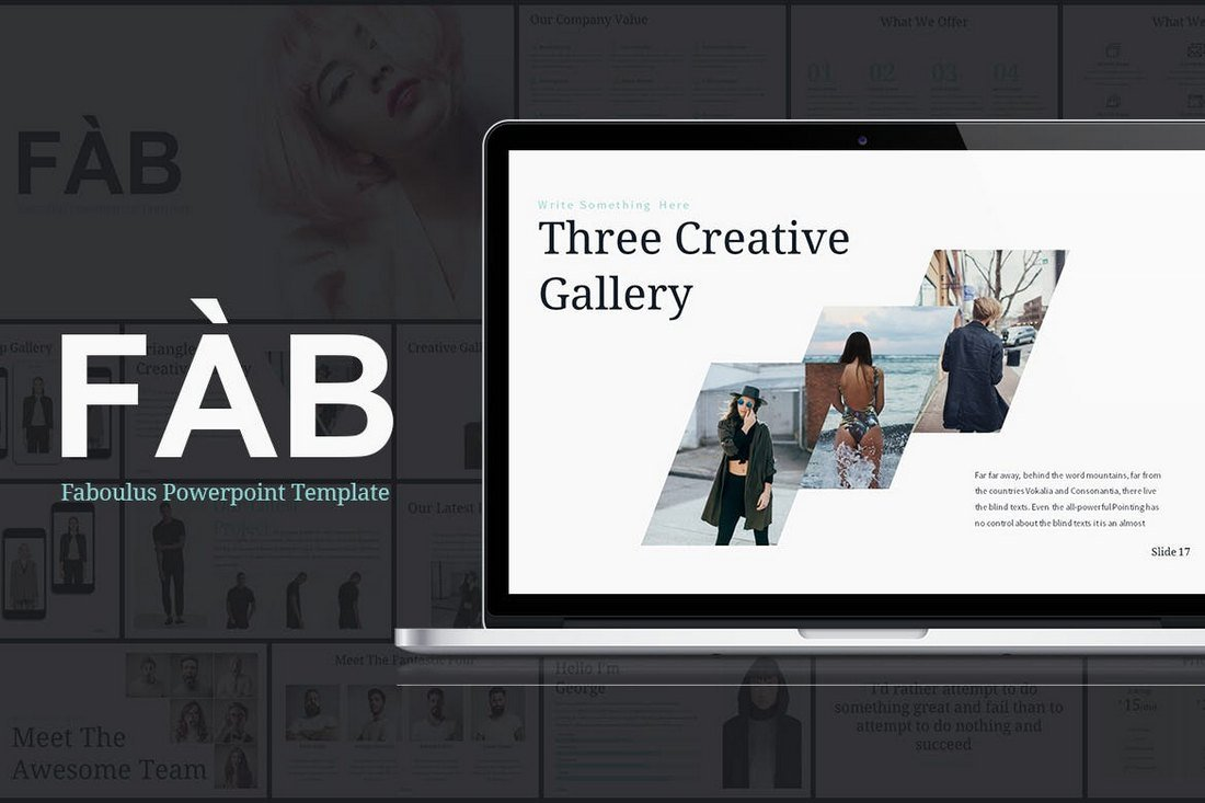 FAB-Powerpoint-Presentation-Template 20+ Best Cool PowerPoint Templates design tips