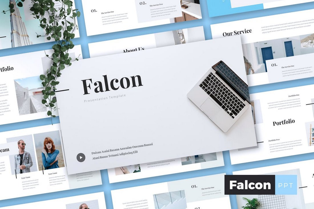 FALCON-Company-Profile-Powerpoint-Template 20+ Best Company Profile Templates (Word + PowerPoint) design tips  Inspiration|company profile