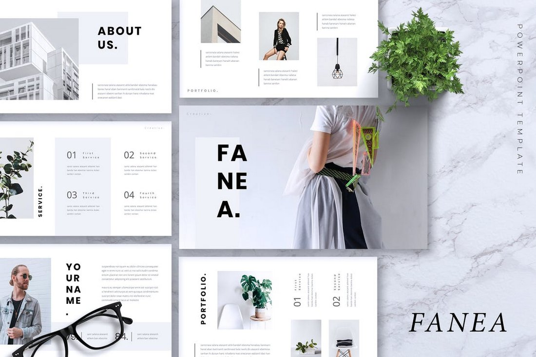 FANEA - Creative Powerpoint Template
