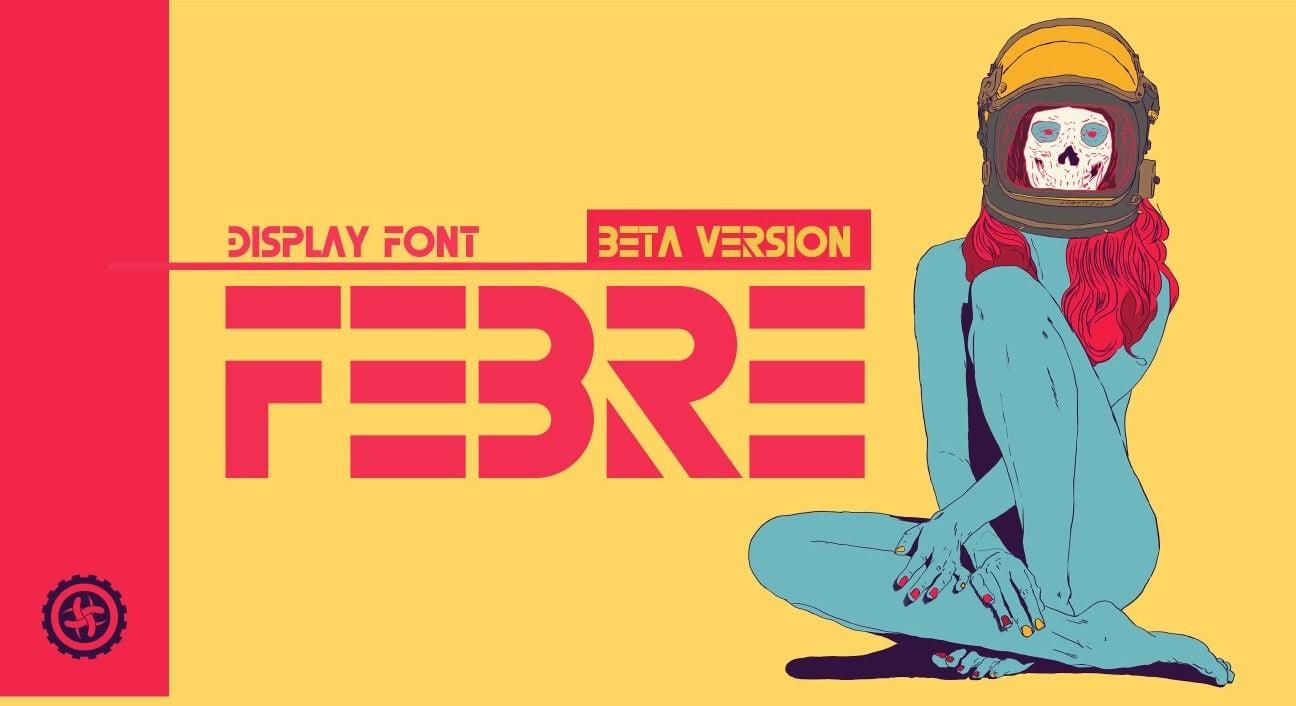FEBRE - Free Block Letter Font
